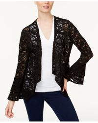INC International Concepts - Lace Draped-front Jacket - Lyst
