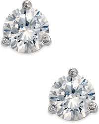 Kate Spade - Tri-claw Stone Stud Earrings - Lyst