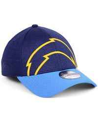 8ee768246 KTZ - Los Angeles Chargers Oversized Laser Cut Logo 39thirty Cap - Lyst