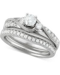 Macy's - Diamond Bridal Set (7/8 Ct. T.w.) In 14k White Gold - Lyst