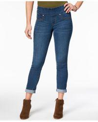 Style & Co. Petite Pull-on Ella Boyfriend Jeans - Blue