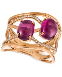 Le Vian - Raspberry Rhodolite® (3 Ct. T.w.) And Diamond (1/8 Ct. T.w.) Ring In 14k Rose Gold - Lyst