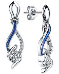 Sirena - Jeans Diamond Drop Earrings In 14k White Gold (1/4 Ct. T.w.) - Lyst