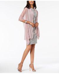 Lyst Aryn K Draped Silk Evening Blouse In Pink