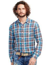 536e2054cb Denim   Supply Ralph Lauren - Men s Plaid Cotton Shirt - Lyst