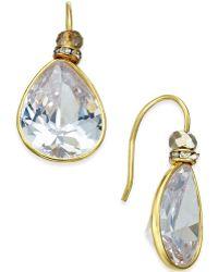 c.A.K.e. By Ali Khan - Gold-tone Large Teardrop Crystal Drop Earrings - Lyst