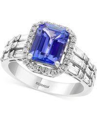 Effy Collection - Effy® Tanzanite (2-1/10 Ct. T.w.) & Diamond (5/8 Ct. T.w.) Statement Ring In 14k White Gold - Lyst