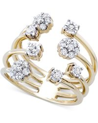 wrapped in love diamond cluster cuff ring 13 ct tw