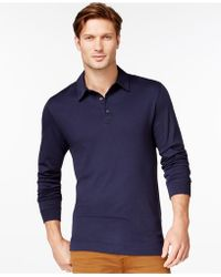 Cutter & Buck - Belfair Pima Long-sleeve Polo - Lyst