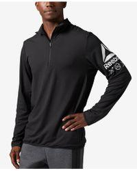 Reebok Men's Bioknit Quarter-zip Shirt - Black