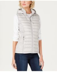 32 Degrees Hooded Packable Down Puffer Vest - Multicolour