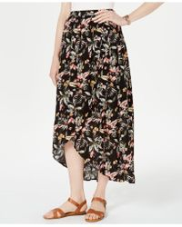 Style & Co. - Petite Printed High-low Skirt, Created For Macy's - Lyst