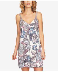 1.STATE - Printed Adjustable Slip Dress - Lyst