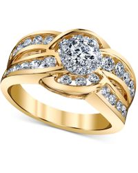 Macy's - Diamond Engagement Twist Ring (1-1/4 Ct. T.w.) In 14k Gold And White Gold - Lyst