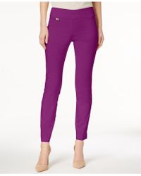 Alfani Tummy-control Pull-on Skinny Pants, Regular, Short And Long Lengths, Created For Macy's - Purple