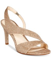 Charter Club Lailah Asymmetrical Evening Sandals, Created For Macy's - Metallic