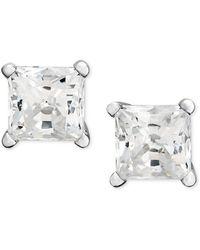 Macy's - Princess-cut Diamond Stud Earrings In 14k White Gold (1 Ct. T.w.) - Lyst