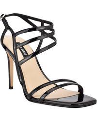 Nine West Zana Strappy Evening Stiletto Dress Sandals - Black
