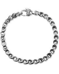 Scott Kay - Men's Textured Link Bracelet In Sterling Silver - Lyst