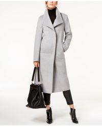 Jones New York Wing-collar Coat - Grey