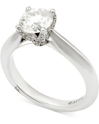 Marchesa - Diamond Engagement Ring (1-5/8 Ct. T.w.) In 18k White Gold - Lyst