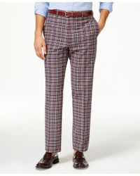 Lauren by Ralph Lauren - Men's Flat Front Classic-fit Madras Plaid Pants - Lyst