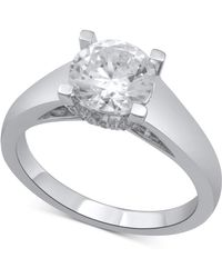 Macy's - Diamond Solitaire Plus Engagement Ring (2 Ct. T.w.) In 14k White Gold - Lyst