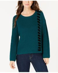 Style & Co. - Velvet Lace-up Jumper, Created For Macy's - Lyst