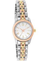 Charter Club Tri-tone Bracelet Watch 22mm, Created For Macy's - Metallic