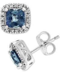 Effy Collection - Effy® Grey Spinel (1-3/8 Ct. T.w.) & Diamond (1/8 Ct. T.w.) Stud Earrings In 14k White Gold - Lyst