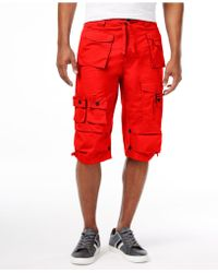 Sean John - Men's Classic Flight Cargo Shorts - Lyst