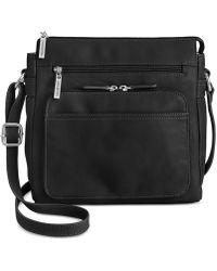 Giani Bernini Handbag, Nappa Front Zip Crossbody - Black