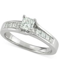 Macy's - Diamond Princess Engagement Ring (1 Ct. T.w.) In 14k White Gold - Lyst