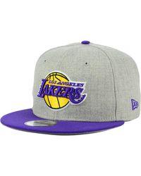 0ab02af6aca Lyst - adidas Los Angeles Lakers 2015 Nba Draft Snapback Cap in ...