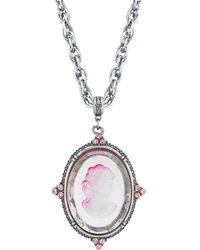2028 Silver-tone Necklace - Pink