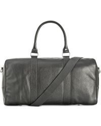 Cole Haan Pebbled Leather Duffle Bag - Black