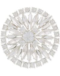 Charter Club - Silver-tone Crystal Fancy Shield Pin, Only At Macy's - Lyst