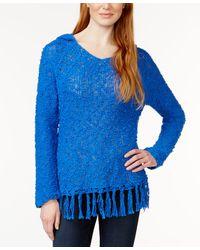 G.H.BASS - Hooded Fringe-trim Sweater - Lyst