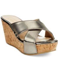 Ann Marino By Bettye Muller - Kelly Slide Platform Wedge Sandals - Lyst