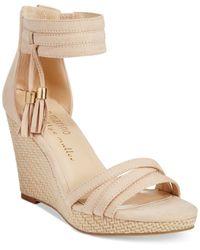 Ann Marino By Bettye Muller - Cora Platform Wedge Sandals - Lyst