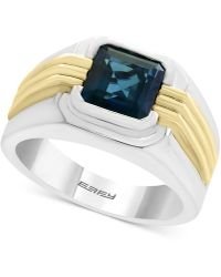 Effy Collection - Men's London Blue Topaz Two-tone Ring (2-3/4 Ct. T.w.) In Sterling Silver And 14k Gold - Lyst
