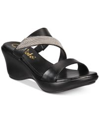 Callisto - Preston Slide Platform Wedge Sandals, Created For Macy's - Lyst