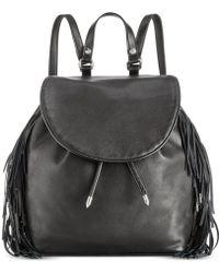 Sam Edelman Fifi Fringe Backpack - Black