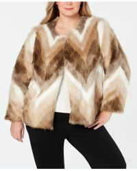 Alfani - Plus Size Faux-fur Coat, Created For Macy's - Lyst