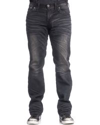 Affliction Men's Blake Fleur Relaxed-straight Fit Springfield Jeans - Gray