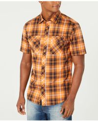Sean John - Dual-pocket Plaid Shirt - Lyst