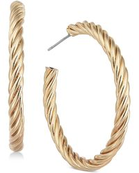 Charter Club - Gold-tone Twist Hoop Earrings, Created For Macy's - Lyst