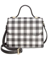 Tommy Hilfiger Gingham Mini Top Handle Crossbody - White