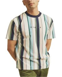 Guess Originals Vertical Stripe T-shirt - Blue