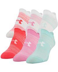 Under Armour 6-pk. Essential No-show Socks - Pink
